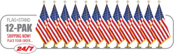 12 Pack of Flags + Stands from Event Arts and Protocol